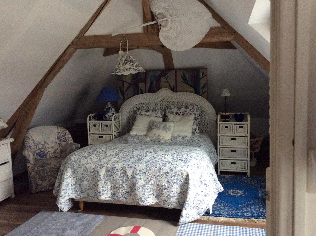 Chambre Bleu Ciel Et Lin chambres d'hôtes nid d'ange à angerville, chambres
