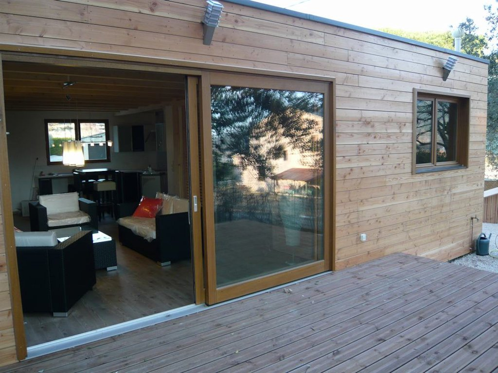 Maison moderne en ossature bois, avec piscine, Ferienwohnung Saint ...