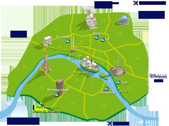 Guide des hotels paris cybevasion france hotels paris for Carte des formule 1 hotel en france